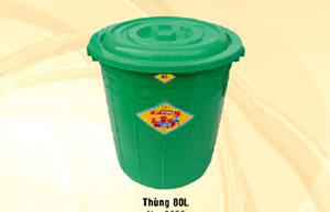 Thùng nhựa tròn 80 lít Vĩ Hưng (Ảnh 1)
